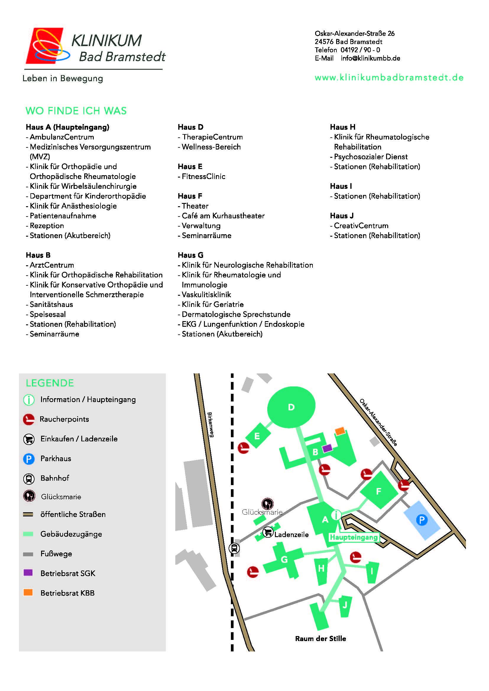 Orientierung im Klinikum Bad Bramstedt - Klinikum Bad ...